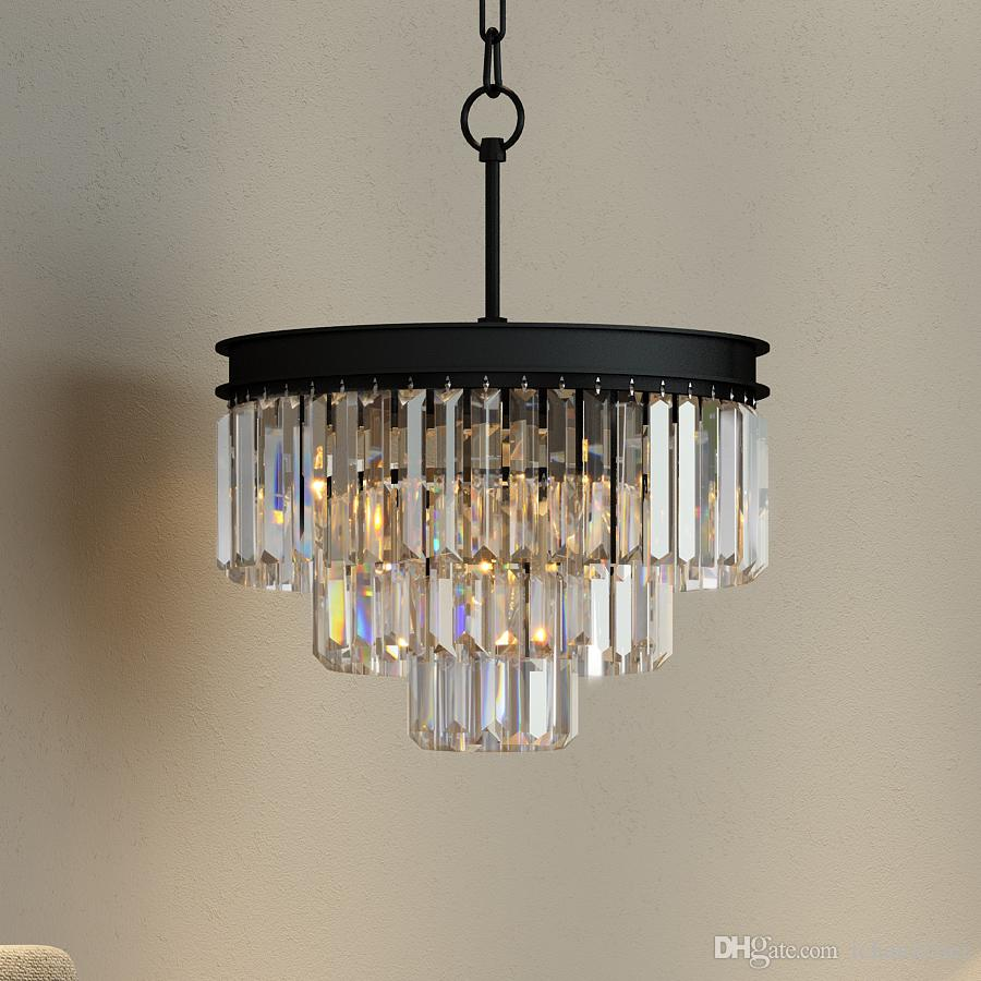 Discount 3_rings Odeon Clear Prism Chandelier Crystal Glass Fringe ...