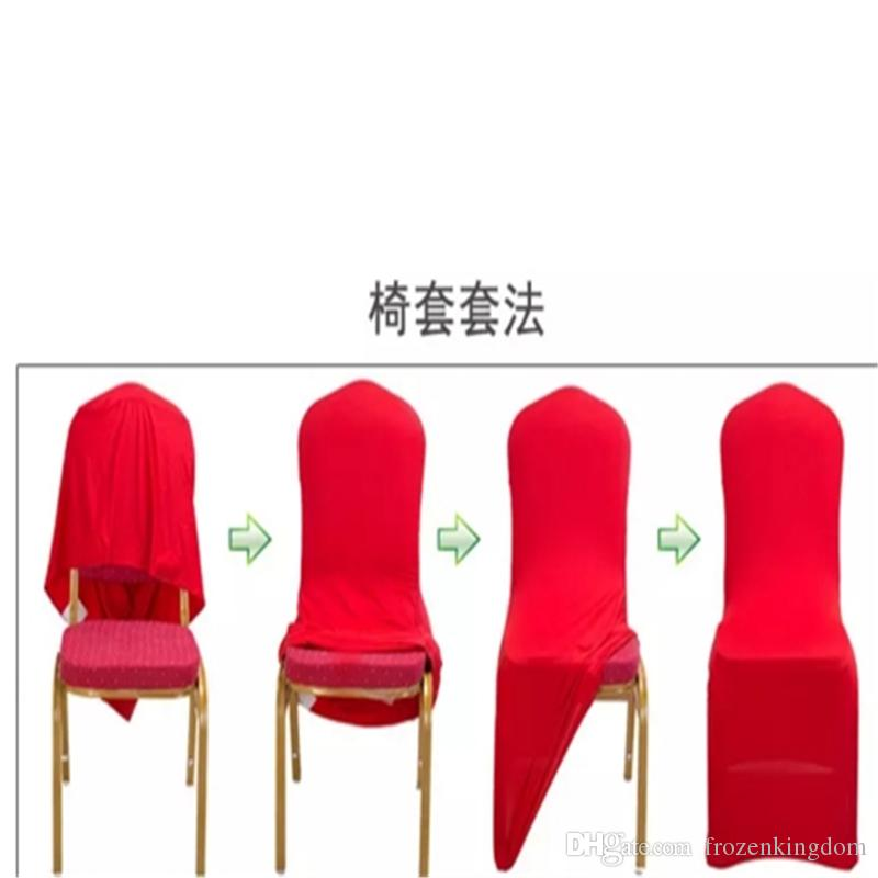 Universal White Wedding Banquet Folding Polyester Spandex Hotel Quality Chair Covers with 4 Pockets 2017091201