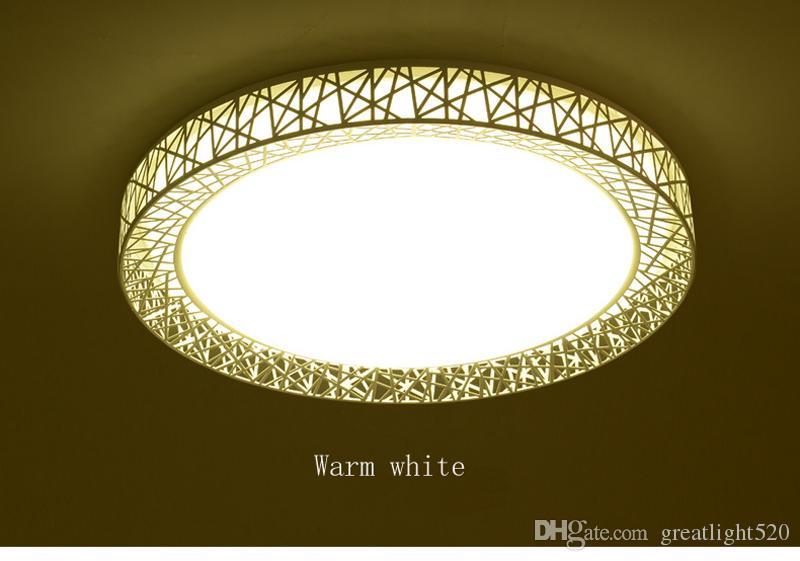 Plafond LED moderne lumières Square et pendentif Nest ronde animée pendentif luminarias métal par Place lumière # 11