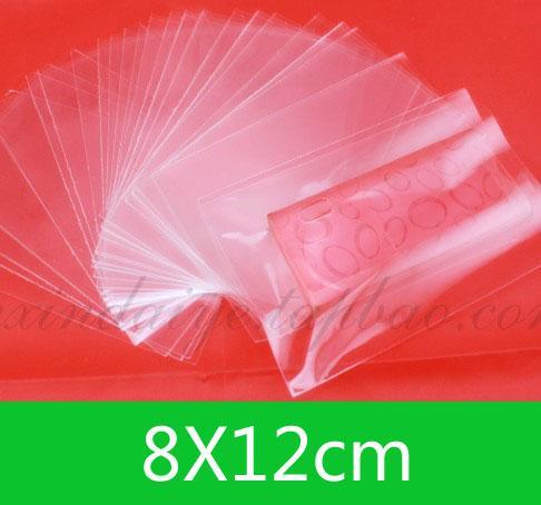 새로운 OPP 오픈 상단 가방 8x12cm 소매 또는 wholesaleJewelry DIY 지우기 가방 / 무료 배송