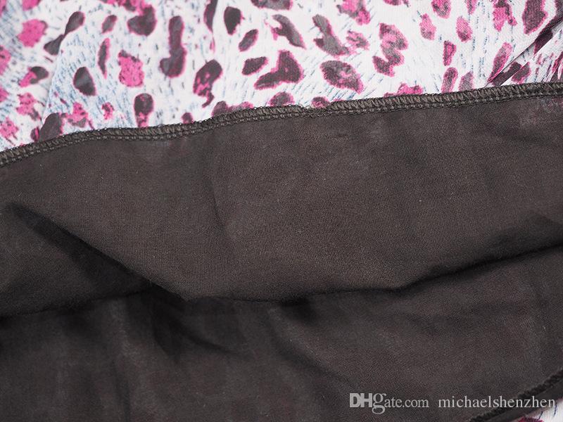 فتاة ليوبارد bowknot دوت اللباس الدعاوى dhl الصيف الشيفون القطن أكمام تي شيرت تنورة قصيرة اللباس دعوى ملابس الطفل b001
