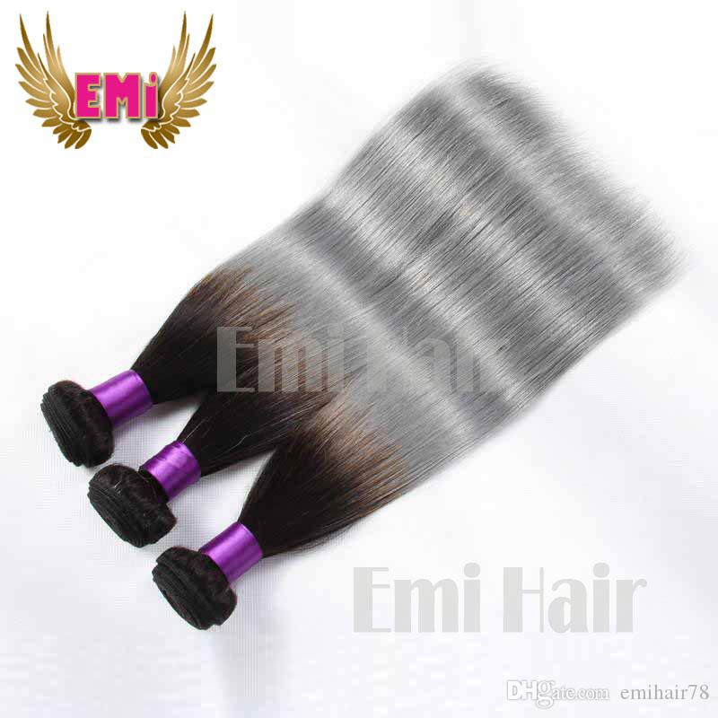 Ombre weave human hair extensions ombre gray brazilian human hair ombre weave human hair extensions ombre gray brazilian human hair body wave ombre dark grey hair weave straight bundle best selling silver best human hair pmusecretfo Images