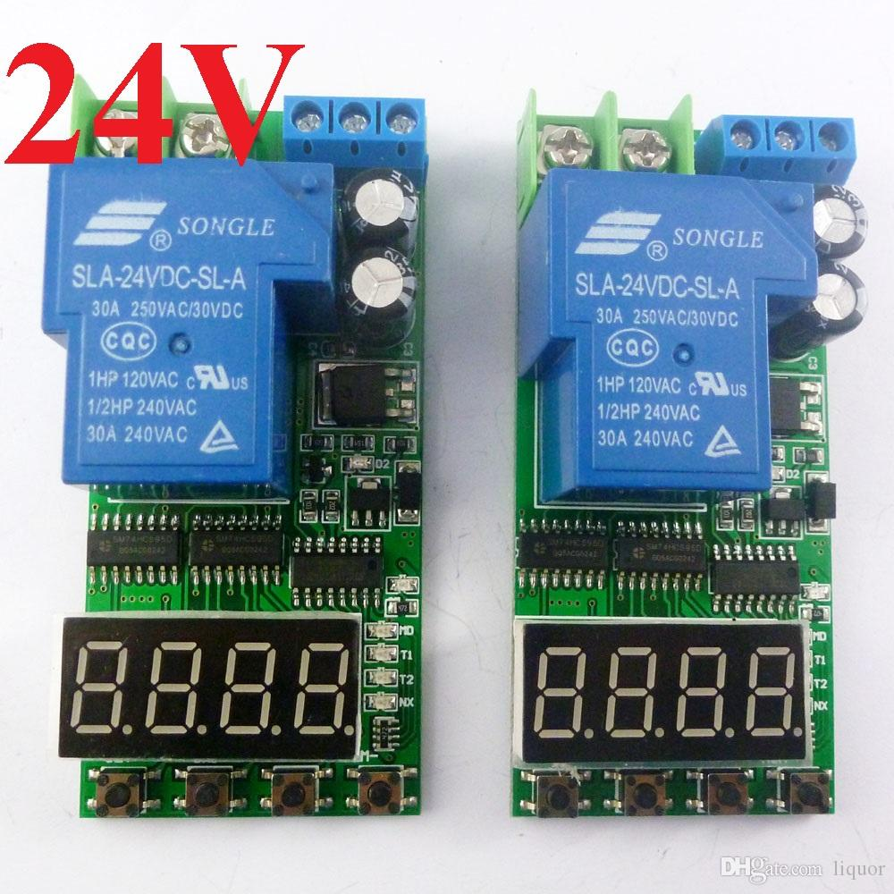 Dc 24v 30a 25 High Trigger Cycle Timer Time Delay Relay Switch Wiring Diagram Board For Power Supply Charging Module Dc24v 1ch Online With