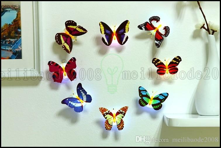 창의력 붙여 넣기 화려한 나비 야간 조명 에너지 절약 장식 베이비 침실 머리맡의 램프 조명