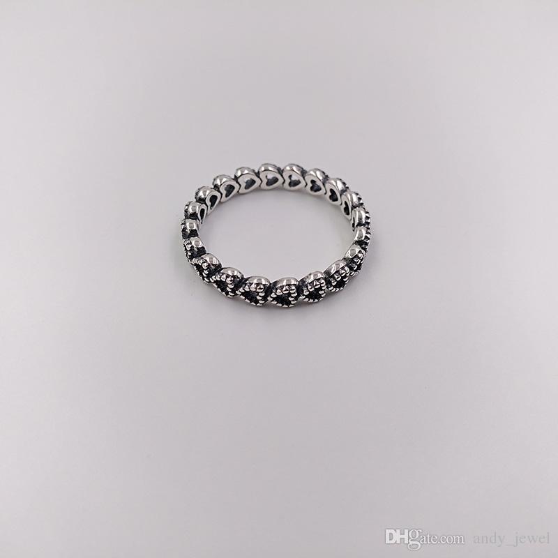 Autentico 925 sterling sterling anelli openwork linking ring anello adatti gioielli in stile Pandora europeo 190980