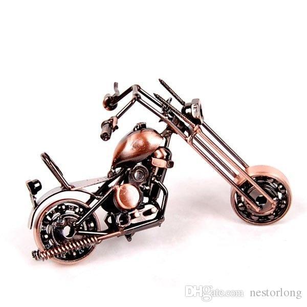 2016 Hot Sale Desktop Decoration wrought Handmade Iron Motorcycle Model Motorbike Metal Crafts Christmas Gifts