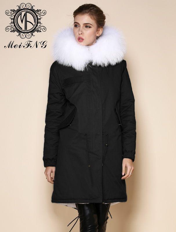 2017 Plus Size 2016 Short Black Winter Jacket Women Coat Genuine ...