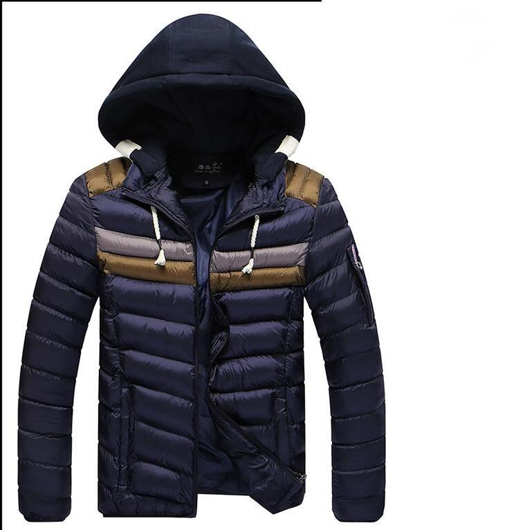 British Stylehot SALE brand new Winter Mens Boys Hooded Coat Zip Cotton Warm Jacket Outwear SIZE M-3XL