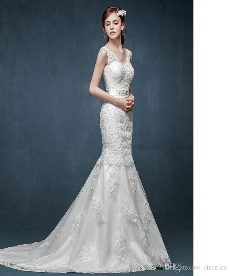 2016 Wedding Dress Sexy Wedding Gown Sheath Lace Wedding Dresses ...