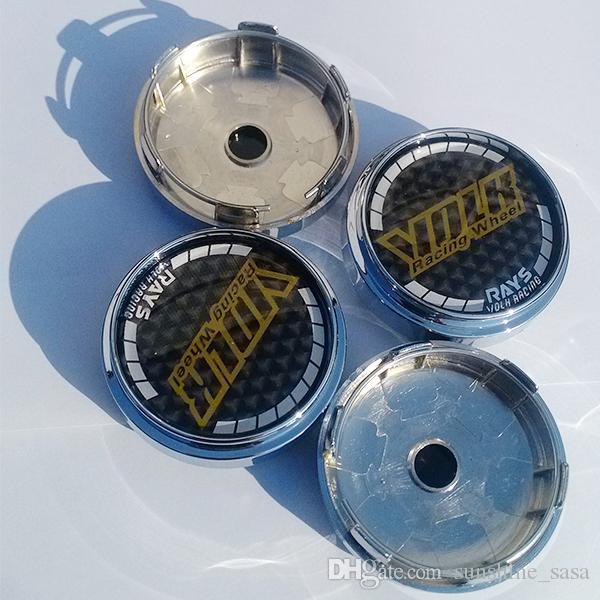 4x für Volk Rays Carbon Radkappen Zentrum Radkappen Universal 68mm Auto Radkappen Chrom ABS Radmitte Radkappen 4 teile / los