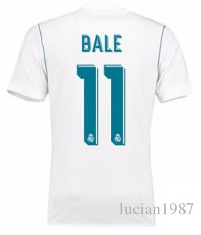 ac304add6 1718 Real Madrid TOP Thai Quality Gareth Bale Customized Soccer Jerseys  Discount Cheap Football Jerseys BENZEMA RONALDO Football Shirts
