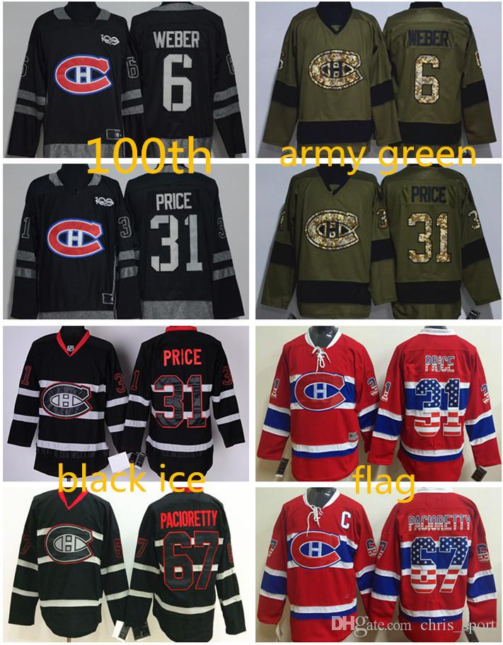 ... Authentic New CA) 2017 Montreal Canadiens 100th Anniversary Hockey  Jersey 31 Carey Price 67 Max Pacioretty 6 Shea Weber ... caf26bde8