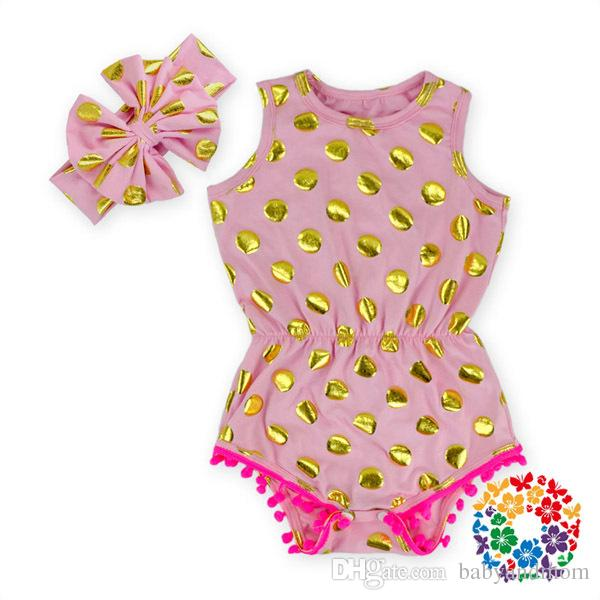 gold polka dot romper,baby girls rompers,baby romper for girls,bubble romper,baby girl clothes,white and gold baby outfit