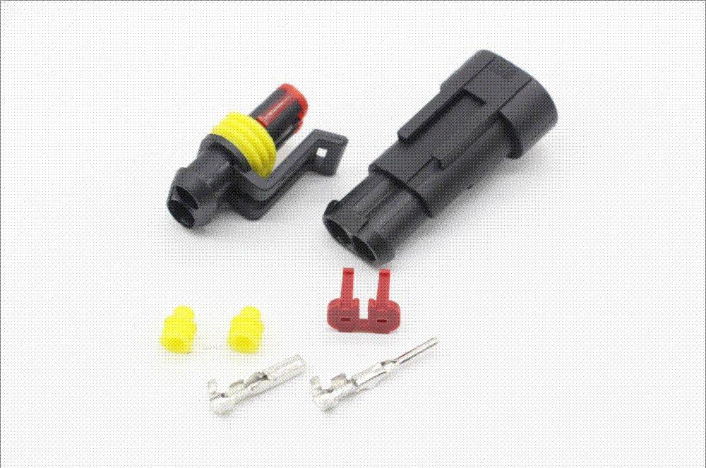 2 Pin/Way Amp 1.5 Connectors,Dj7021 1.5 Waterproof Electrical Wire ...