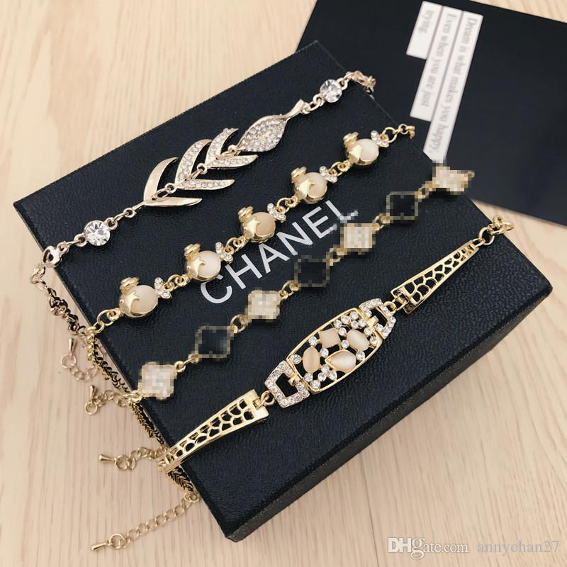 Neue Charme-Armband-Qualitätskatzenauge-Edelstein-Perlen-Schmucksache-Swarovski Rhinestone-Kristallkoreanische Art- und Weisearmbandfarbe, die freies DHL behält