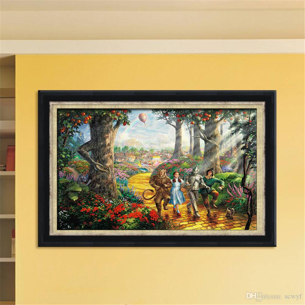 Frameless Huge Wall Art Oil Painting On Canvas The Wonderful Wizard ...