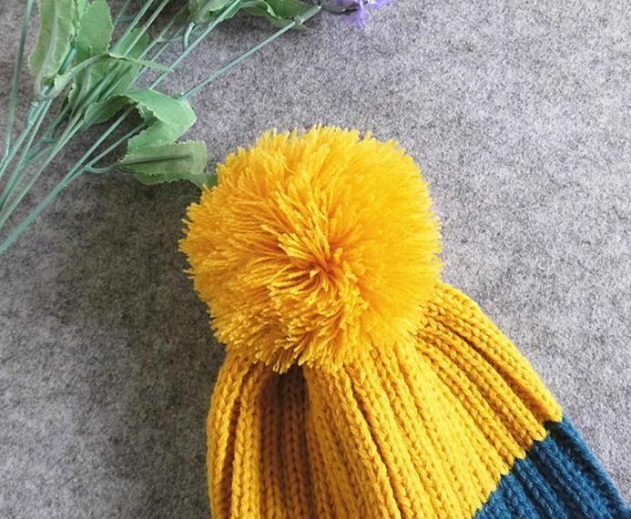 Nuevo Bebé Niños Gorros de Invierno Cráneo Gorro Gorro de Punto Sombrero de Tejer Sombreros Niñas Niños Niños Calor Casquillo Casual M79
