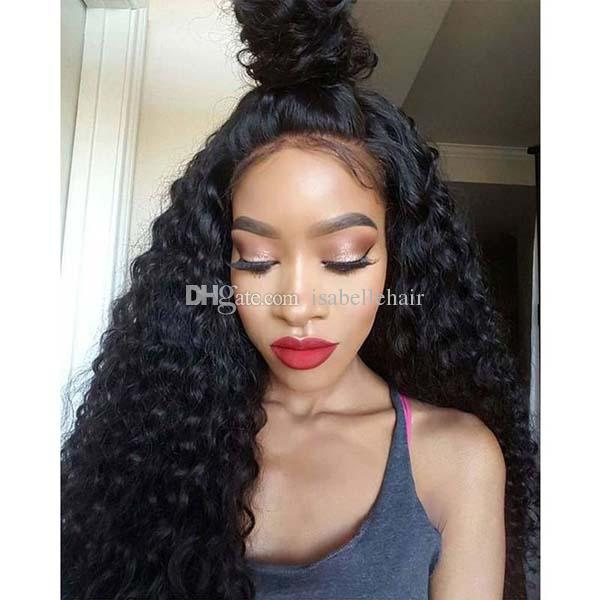 Wholesale Lace Front Ponytail Wigs Unprocessed Full Lace Front Wigs With Baby Hair 8A Top Quality Brazilian Human Hair Curly Wig For Women