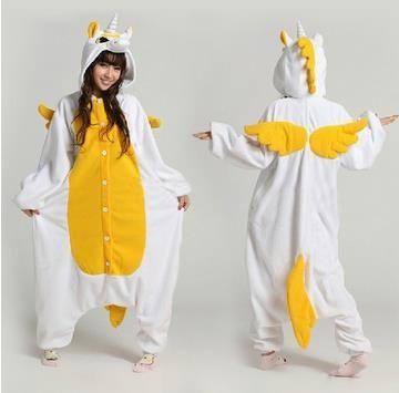 001, One piece кигуруми желтый Единорог животных пижамы, взрослый мужской косплей пижамы пижамы костюмы пижамы сна комбинезон