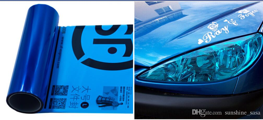 30cmx100cm 새로운 자동차 자동차 연기 안개 라이트 헤드 라이트 미등 색조 비닐 필름 시트 스티커 랩 레드 Bllack 블루 화이트 GreenYellow