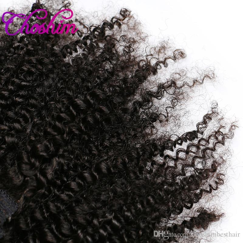 KL Hair 4B 4C Afro Kinky Curly Clip in Human Hair Extensions Natural Black Full Head Brazilian Remy Hair Clip ins