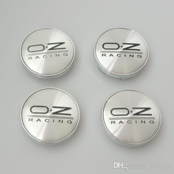 60mm silver OZ O.Z Racing Wheel Center Hub Caps Car Emblem Badge Logo 60mm Wheel Center Caps For VW GOLF POLO CIVIC CRUZE