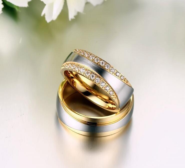 5 paia lotto Anelli in oro placcato oro 7mm Anelli in acciaio inossidabile 316 ad alta smalto CR-065