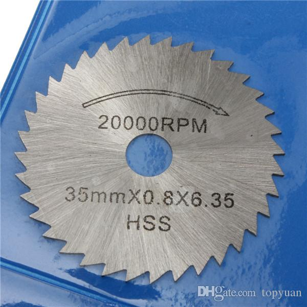 22-44mm HSS Circular Cutting Saw Blade Discs 3.175mm Shank for Dremel