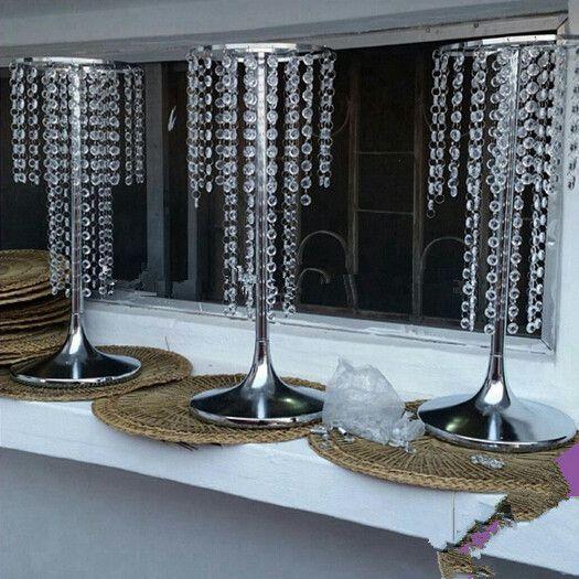 Splitter Hochzeitsparty Straße führen Dekoration Tisch Kronleuchter Hochzeit