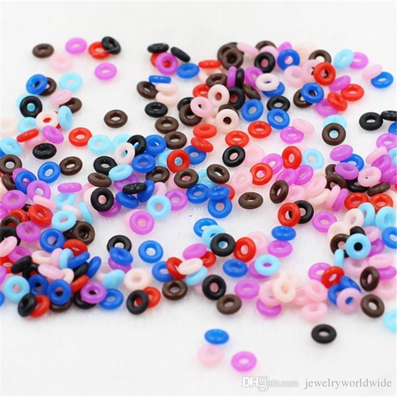 Coloridas 9 cores antiderrapante de borracha bujão do anel espaçadores para Pandora Bead charme 3MM Cobra cadeia pulseira Moda Mulheres Estilo da jóia Europeu
