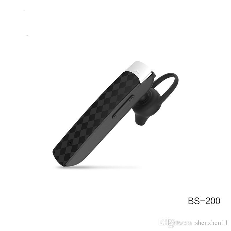 WK Design BS-200 Ear Hook Auriculares inalámbricos Bluetooth Auriculares para deportes al aire libre para iPhone X Samsung para MP3 Remax bs200 EAR256
