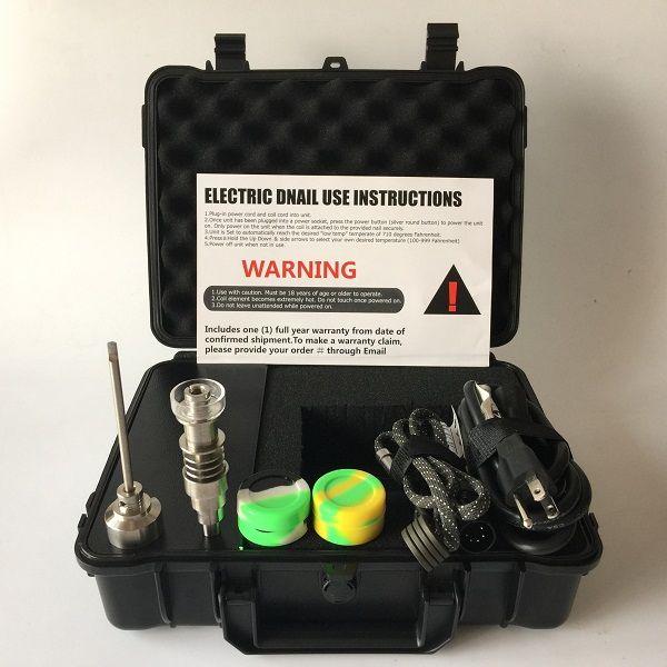 6 인치 1 티 / Qtz 하이브리드 손톱 히터 코일과 함께 도매 휴대용 업 그레 이드 전자 손톱 키트 연소 WAX 오일 DHL 무료