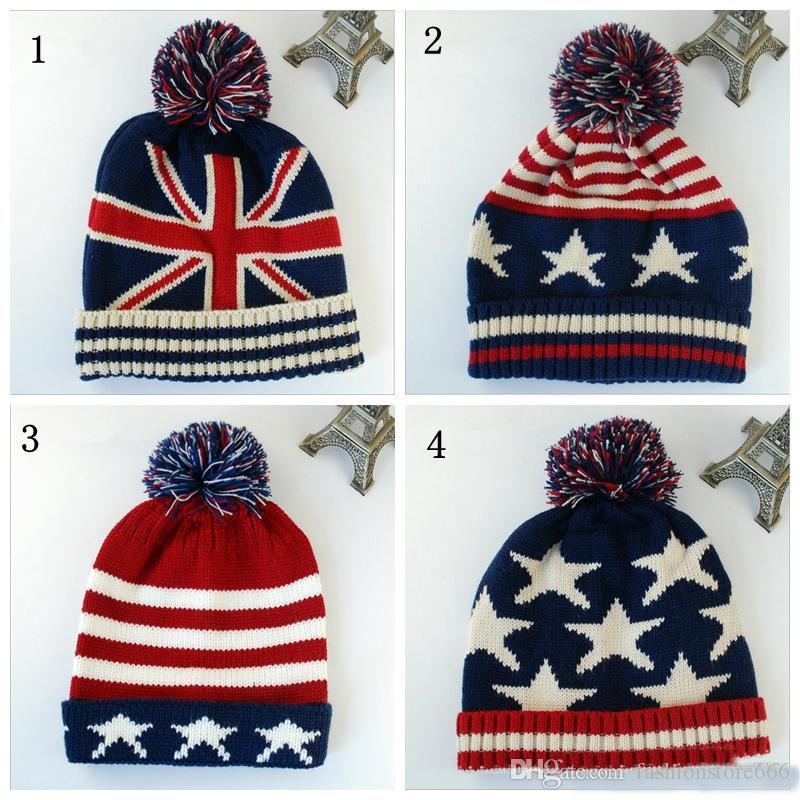 6fe20c340af Top Quality Fashion U.S.A American Flag Beanie Hat.Wool Thicken Warm  Knitted Caps