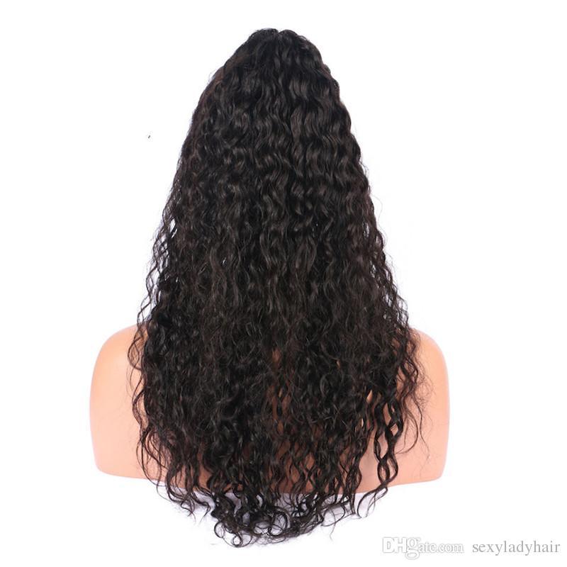 Siyah Kadınlar için stok Kıvırcık Sentetik Dantel Ön Peruk Tutkalsız doğal kıvırcık Sentetik Peruk Doğal Saç Çizgisi ile Dantel Ön Peruk
