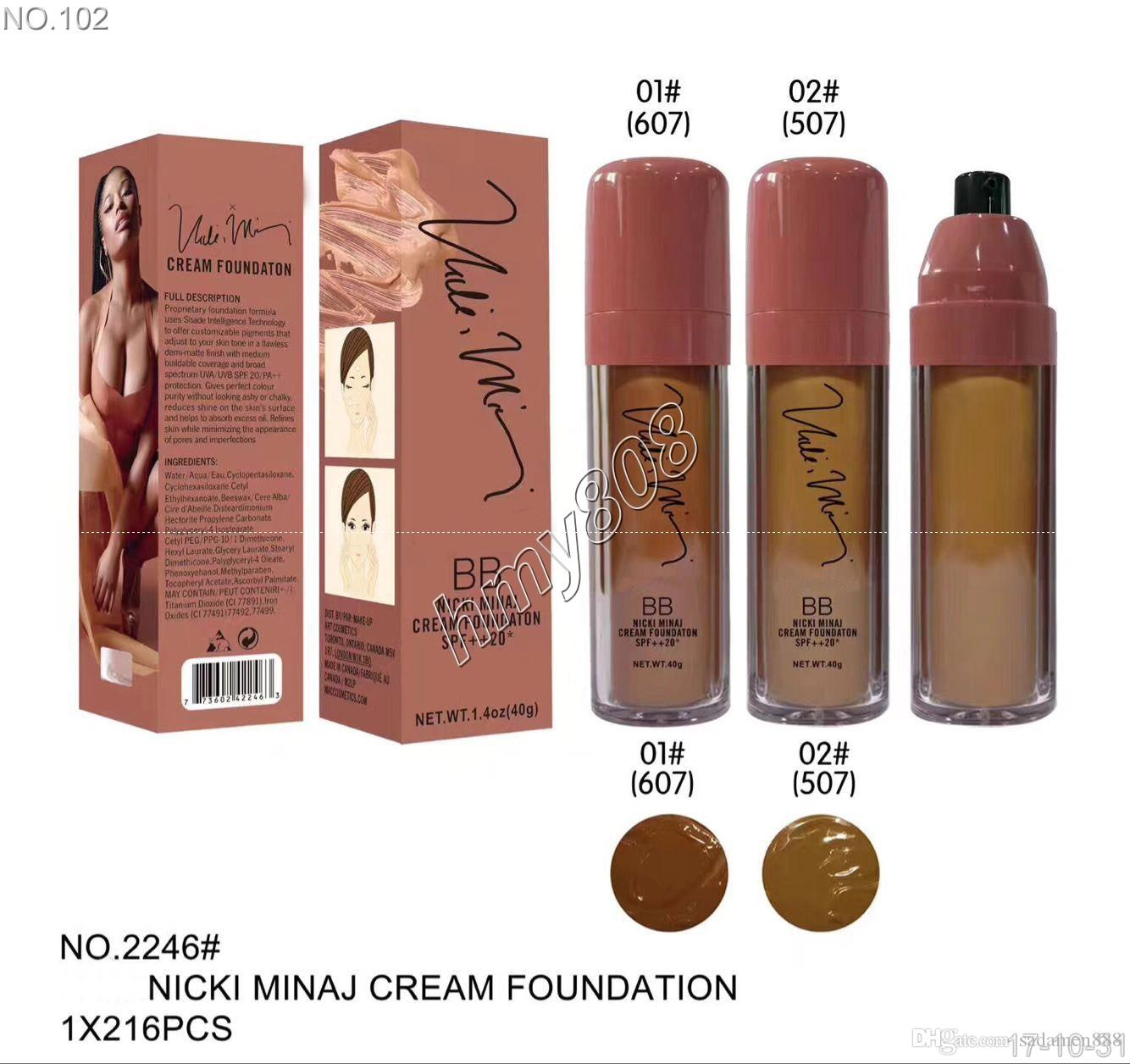 NEW Makeup BB Nicki Minaj Cream Foundation SPF++20 Waterproof Face Powder Foundation Liquid
