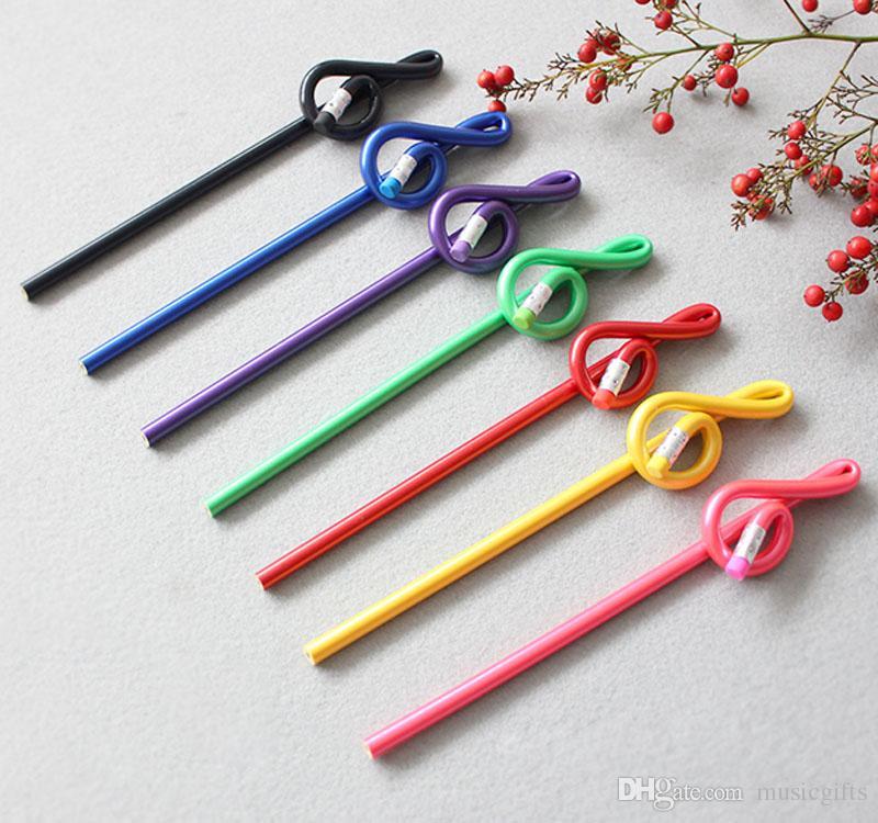 Музыка скрипичный ключ изогнутый карандаш г ключ карандаш школа канцелярские лучшие рождественские подарки Радуга цвет пакет 7 шт.
