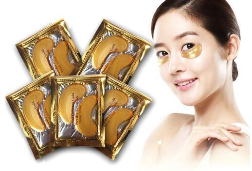 Máscara de ojos de polvo de oro de colágeno Máscara de ojos de cristal antiarrugas 24K Golden Mask se adhieren a las ojeras