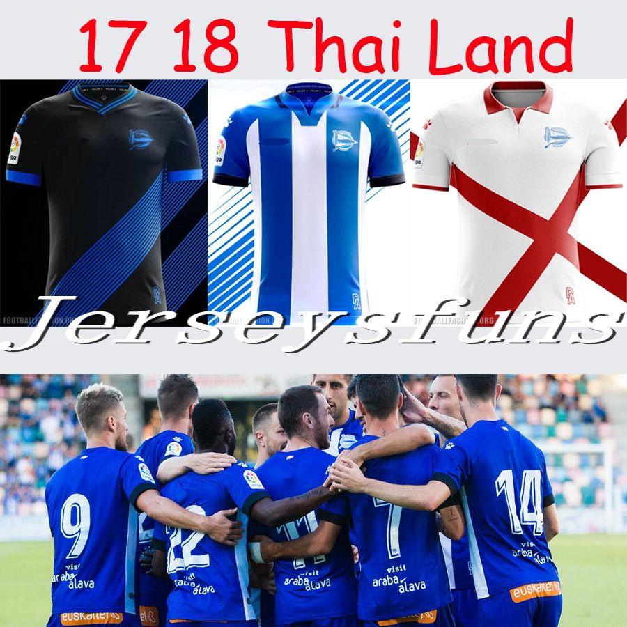 db93d6a09 2019 A++ Thai Quality NEW 2017 2018 Adults Alaves Jersey Soccer Shirt 17 18  Deportivo Alaves Shirt SANTOS VIGARAY ALEXIS Football Shirt From  Jerseysfuns