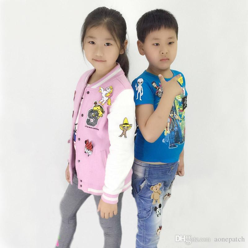 Revólver suncha armas decoradas com estrelas de ferro bordado em ou costurar no remendo para roupas meninas meninos ferro em remendos
