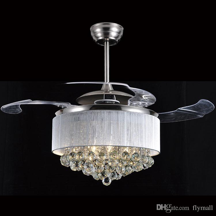 Led Ceiling Fans Light 110-240V Invisible Blades Ceiling Fans Modern Fan Lamp Living Room Bedroom Chandeliers Ceiling Light