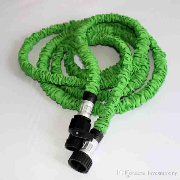 75ft 100ft Expandable Magic Flexible Garden Hose Aliumum Conector For Car Water Hose Pipe Plastic Hoses To Watering With Spray Gun