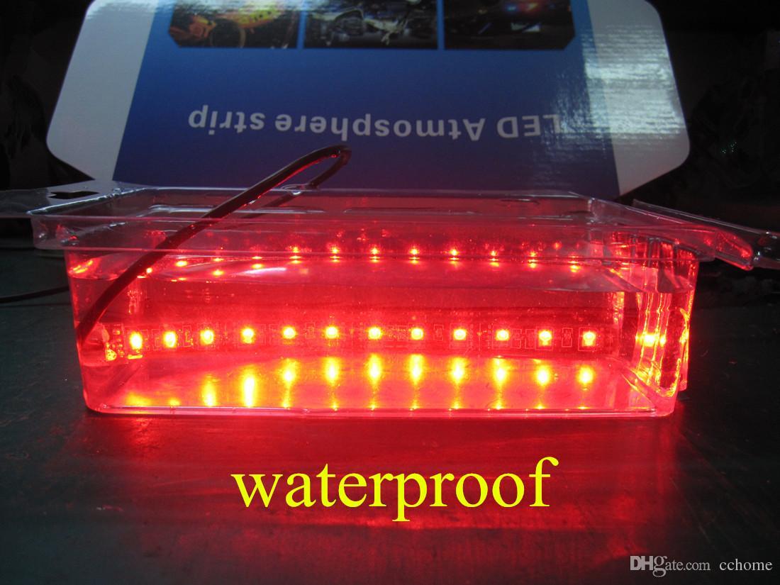 Kit luce subacquea flessibile sottoscocca ATV motocicletta a strisce LED multicolore 3 dimensioni RGB SMD5050 senza fili