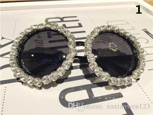 DIY Цветочный горный хрусталь Солнцезащитные очки женщины бренд дизайнер овальная роза цветочные солнцезащитные очки очки оттенки ДЕВОЧКА на открытом воздухе Летний пляж солнцезащитные очки