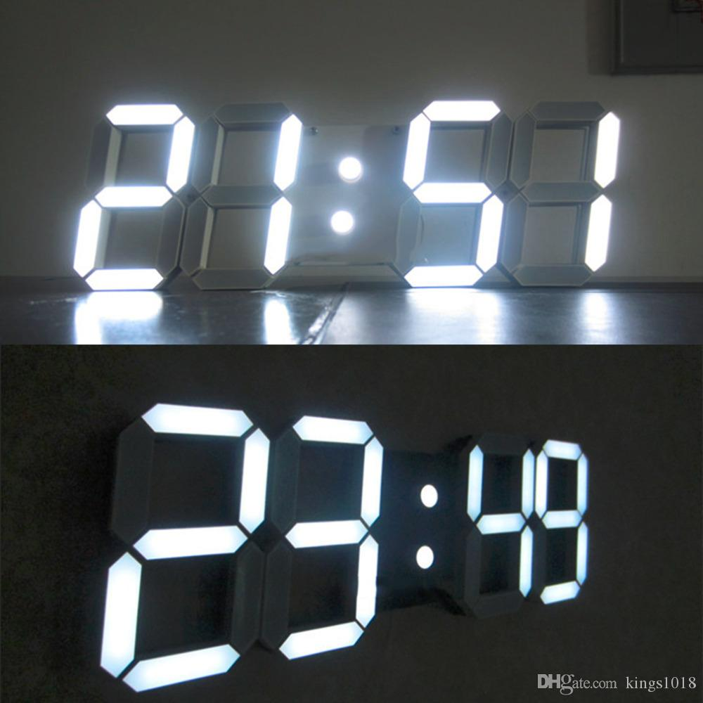 Large 3d modern digital led wall clock 2412 hour display timer see larger image amipublicfo Choice Image