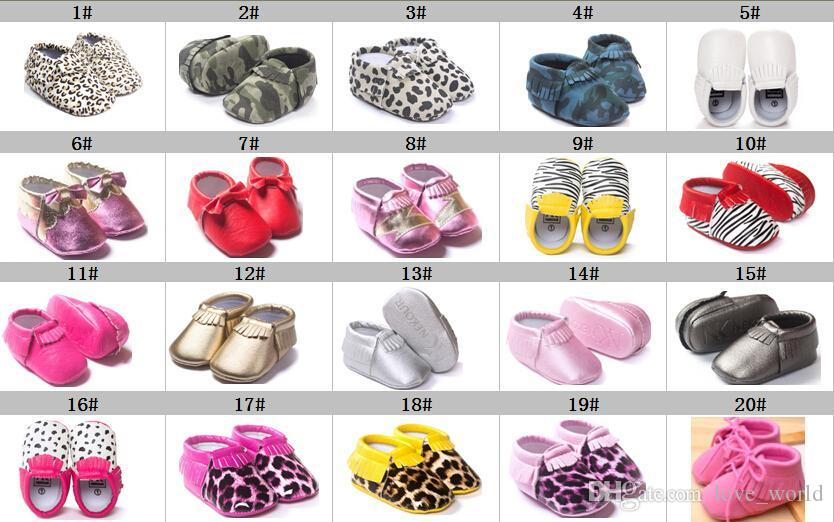 92 Styles Baby Soft Shoes High Quality PU Leather Tassel Moccasins Bow Moccs Baby Booties Flock Baby Girl Shoes Tassel Shoes Moccasin