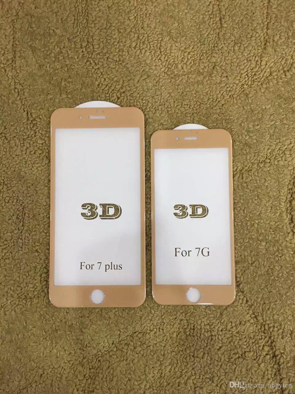 HD حامي الشاشة آيفون 8 7 زائد 4.7 بوصة 3d منحنى غطاء كامل المضادة للخدش 9h صلابة الزجاج المقسى