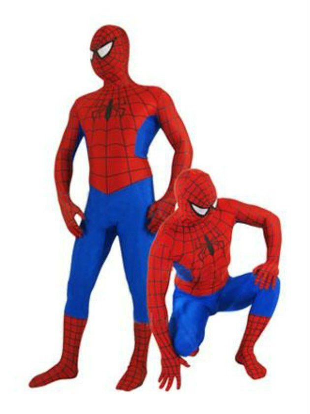 Yeni Kırmızı ve Mavi Likra Tam Vücut Spiderman Seksi Kostüm Catsuit S-XXL