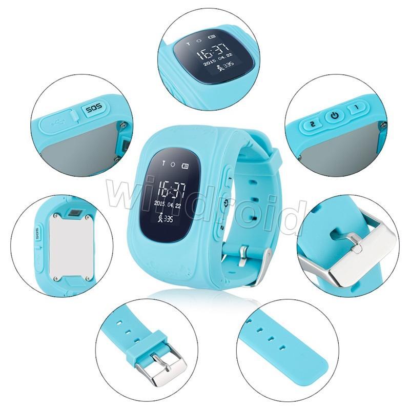 2016 niños GPS Tracker Smart Watch Phone SIM Cuatribanda GSM Safe SOS Llamada Q50 F13 K37 Smartwatch para Android IOS Envío gratis