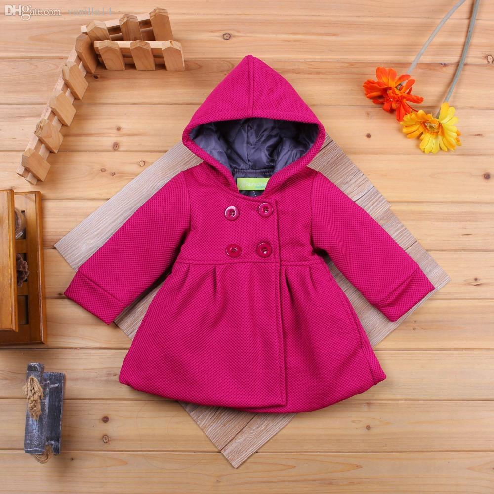 Wholesale 2016 Baby Girl Toddler Warm Fleece Winter Pea Coat Snow ...