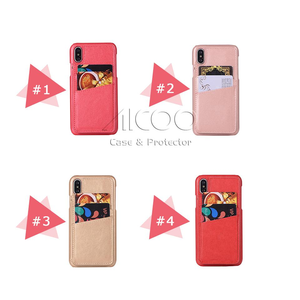 Fashion PU Wallet Phone Case with Card Slot Mirror Holder Kickstand Shockproof Back Cover For Iphone x 8 7 6 6s plus OPP Bag Aicoo